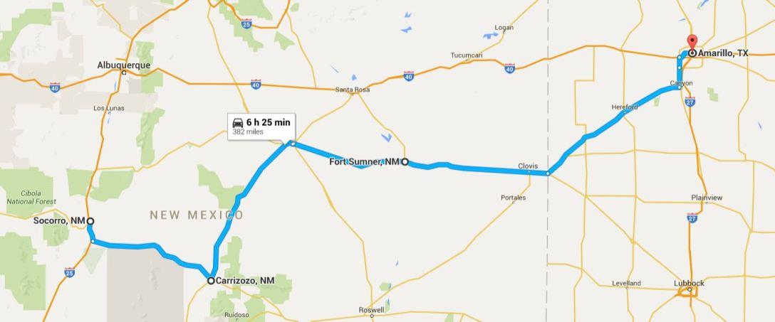 2016-05-13 Google Socorro to Amarillo