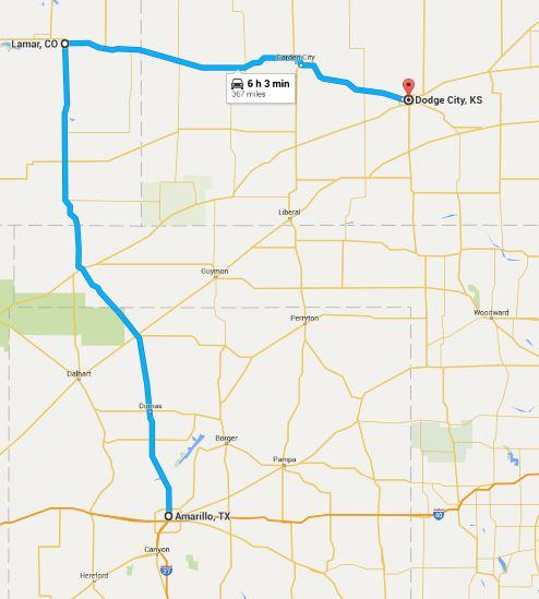 2016-05-14 Google Amarillo to Dodge City