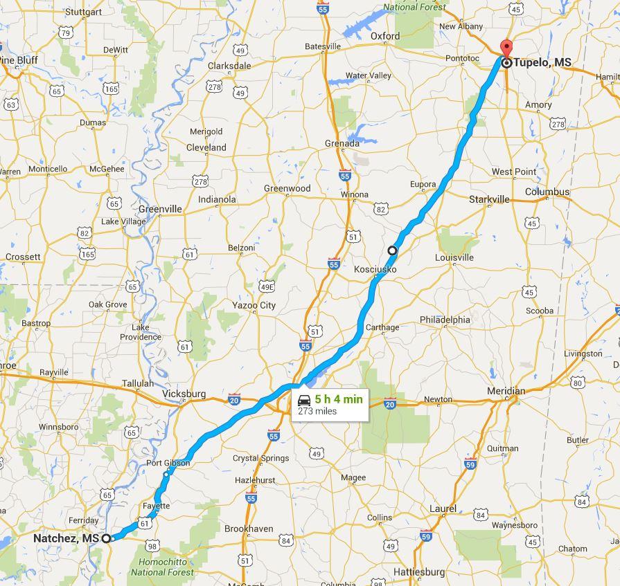 2016-05-20 Google Natchez to Tupelo