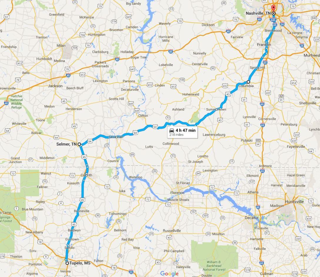 2016-05-21 Google Tupelo to Nashville