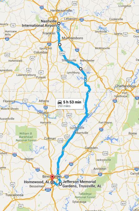 2016-05-24 Google Nashville to Birmingham
