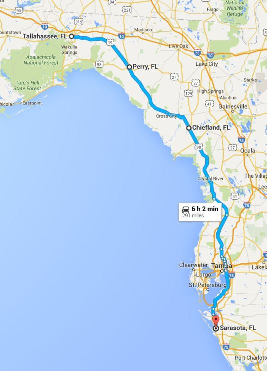 2016-05-26 Google Tallahassee to Sarasota