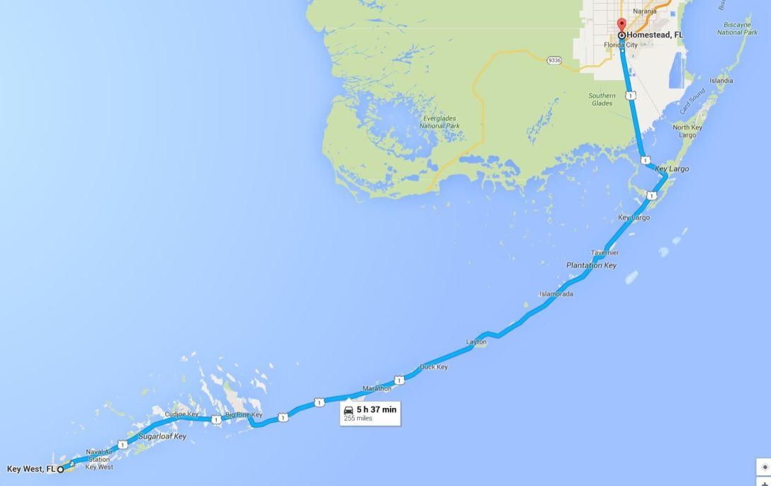 2016-05-28 Google RT Homestead to Key West