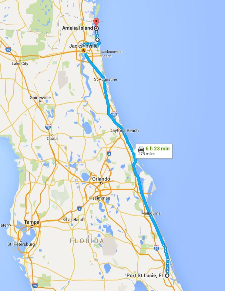 2016-05-30 Google Port St. Lucie, FL to Amelia Island, FL
