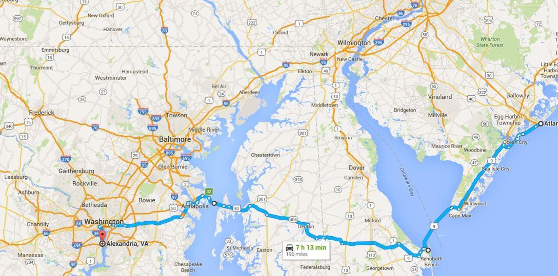 2016-06-06 Google Alexandria, VA to Atlantic City, NJ