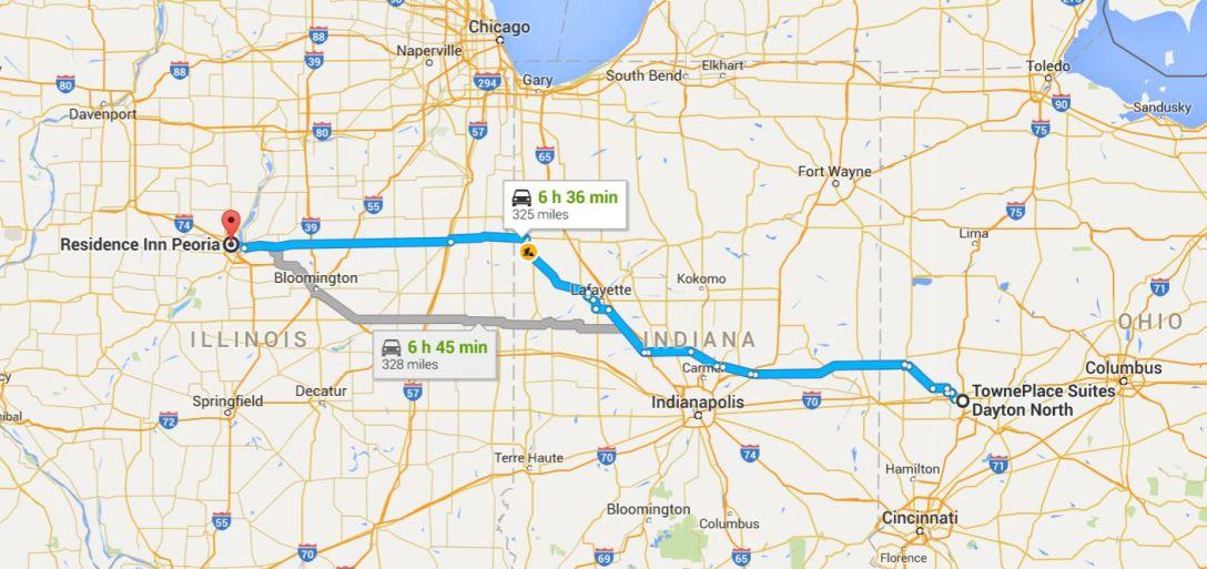 2016-06-18 Google Dayton, OH to Peoria, IL