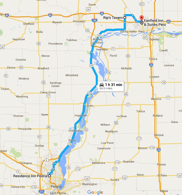 2016-06-19 Google Peoria, IL to Peru, IL