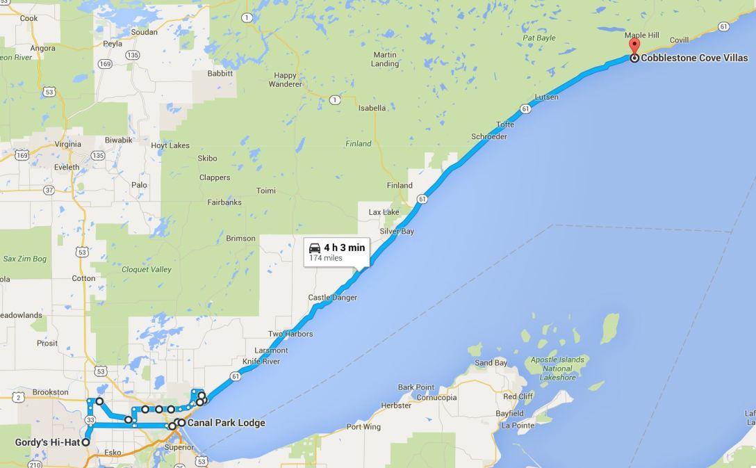 2016-06-24 Google Duluth, MN to Grand Marais, MN