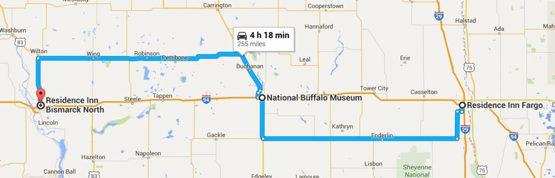 2016-06-28 Google Fargo, ND to Bismarck, ND