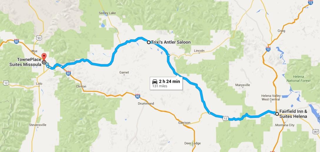 2016-07-06 Google Helena, MT to Missoula, MT