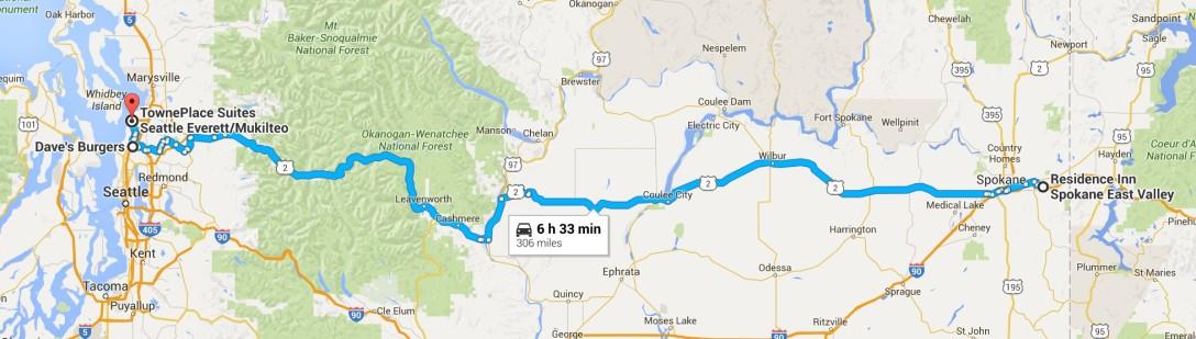 2016-07-08 Google Spokane, WA to Everett, WA