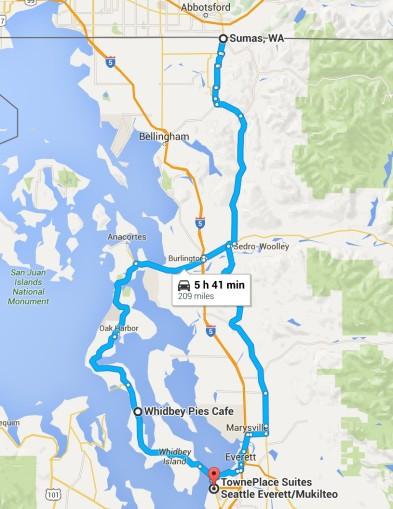 2016-07-09 Google Everett, WA to Sumas, WA