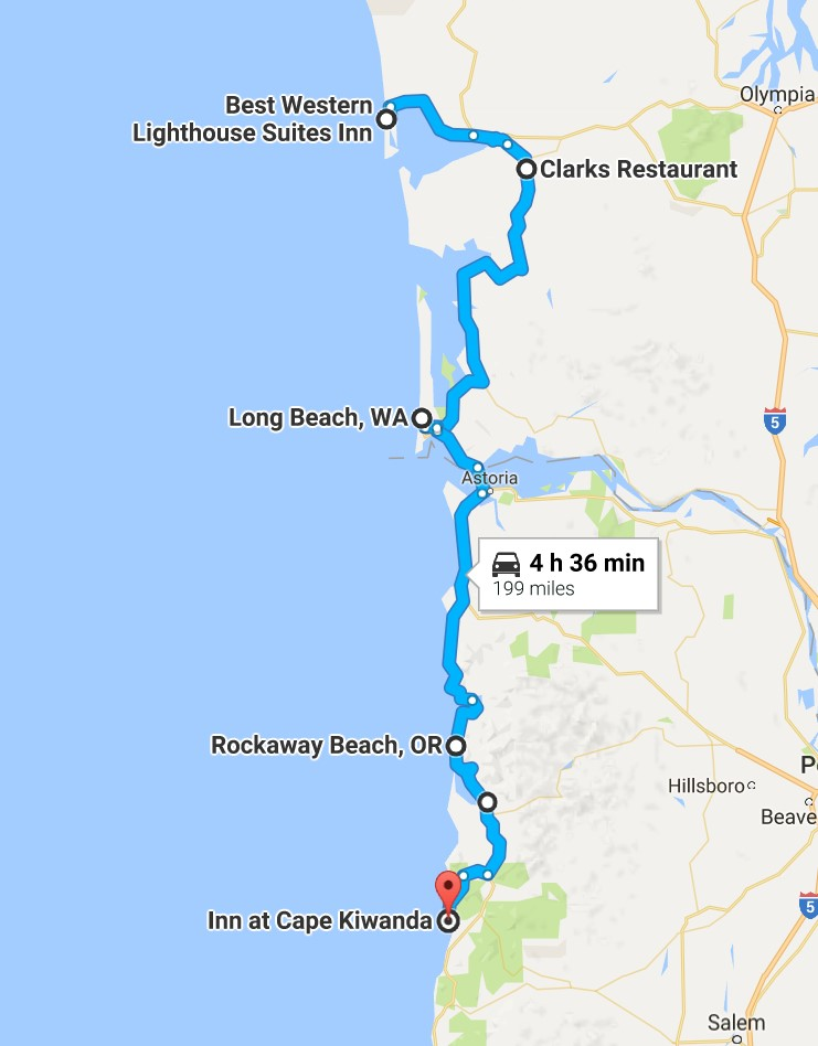 2016-07-26 Google Ocean Shores, WA to Pacific City, OR