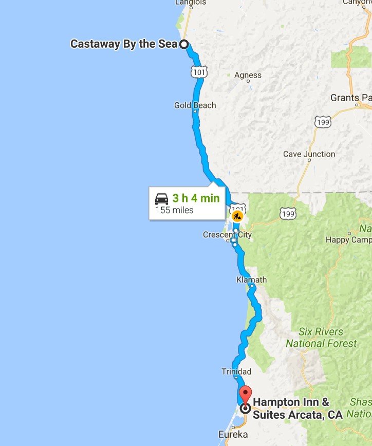 2016-07-28 Google Port Orford, OR to Arcata, CA