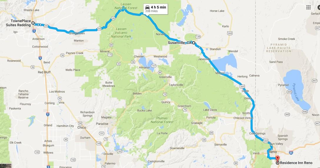 2016-07-30 Google Redding, CA to Reno, NV