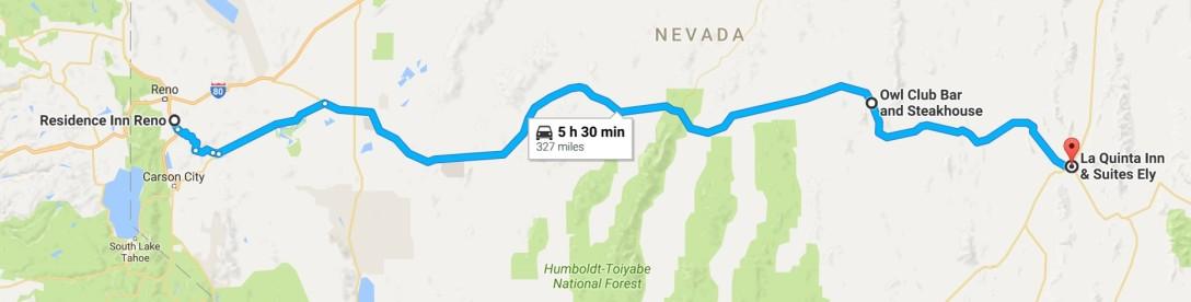 2016-07-31 Google Reno, NV to Ely, NV