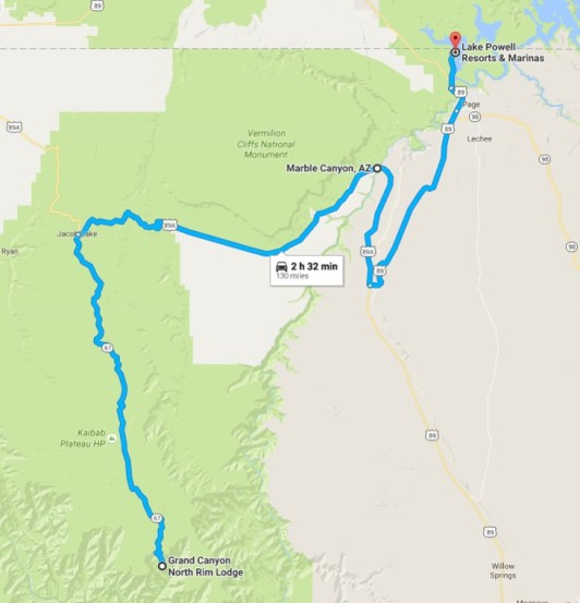 2016-08-05 Google North Rim to Lake Powell