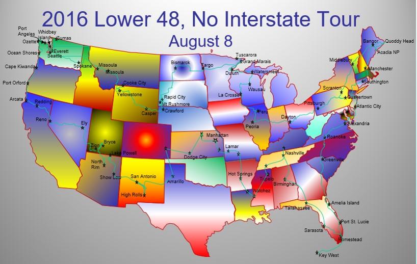 2016-08-08 Show Low, AZ to High Rolls, NM