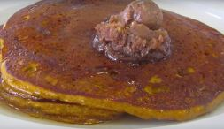 Pumpkin Pancakes with Cinnamon Pecan Butter...mmmm!!!