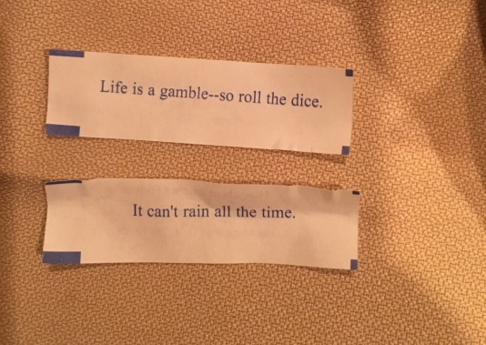 Our fortunes...kind of appropriate for today