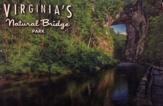 Shuttle to the Natural Bridge - $20; Post card with a better picture than we would take, $0.75