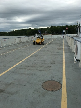 Yep, we were the only vehicle on the ferry...parked right in the middle